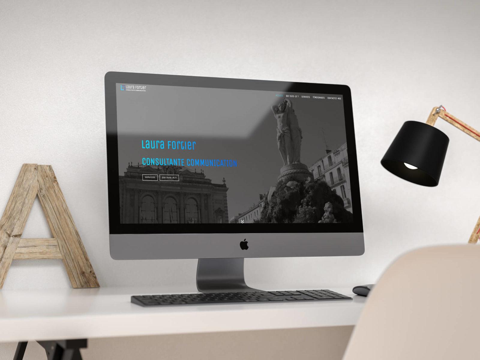 Laura Fortier site internet responsive par djaka agence web Montpellier
